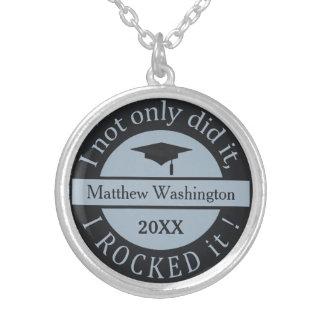 Graduation custom name & year necklace