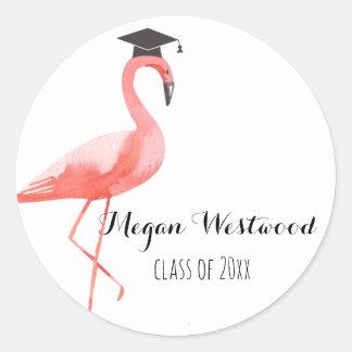 Graduation custom sticker funny flamingo tropical