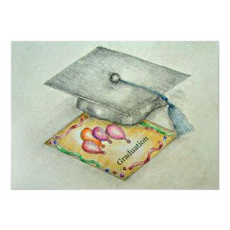 Graduation day with invitation card illustration