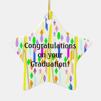 Graduation Ceramic Star Decoration