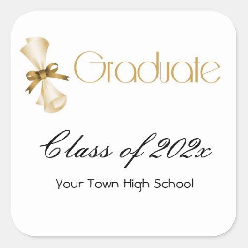 Graduation Diploma Gold Sticker