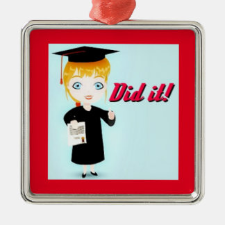 Graduation Elation Premium Square Ornament