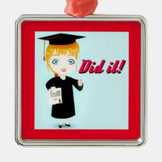 Graduation Elation Premium Square Ornament