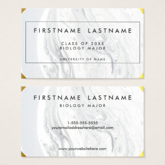 Graduation Elegant Marble Business Card