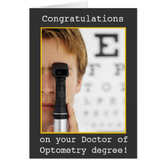 Graduation -Eye Doctor Optometry Card