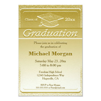 Graduation Faux Gold Metallic Card