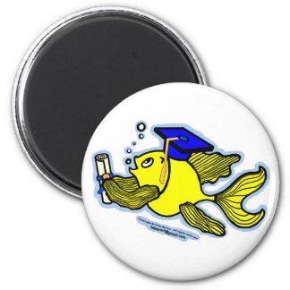Graduation Fish Graduate 6 Cm Round Magnet
