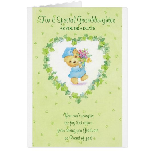 Graduation-For a Special Granddaughter Card