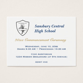 Graduation general admission custom event ticket