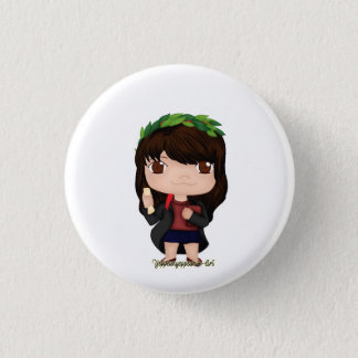 Graduation Girl Brown (A) 3 Cm Round Badge