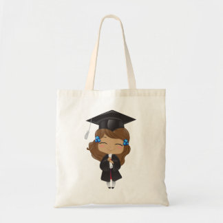 Graduation girl in black tote bag