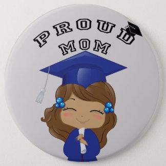 Graduation Girl in Blue 6 Cm Round Badge