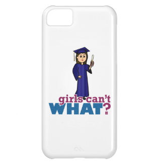 Graduation Girl in Blue Gown iPhone 5C Covers