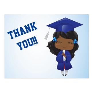 Graduation Girl in Blue Postcard