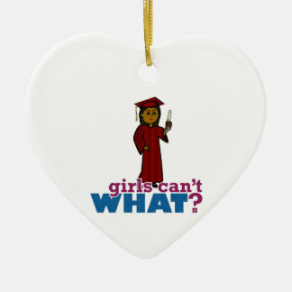 Graduation Girl in Red Christmas Tree Ornaments