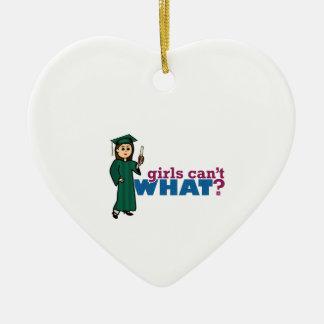 Graduation Girls Ceramic Heart Decoration