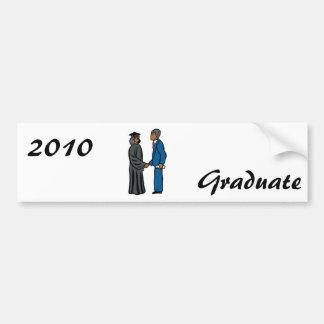 Graduation Handshake Car Bumper Sticker