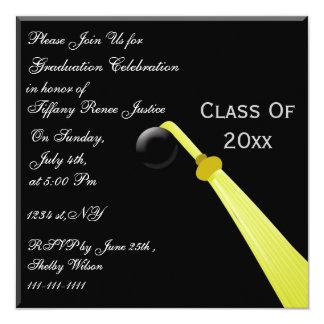 graduation hat back, Graduation party Invitation