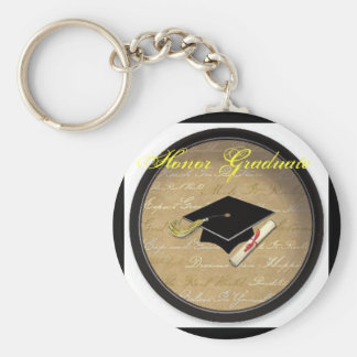 graduation hat, Honor Graduate Key Ring