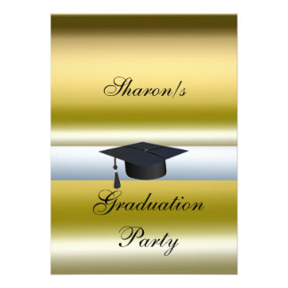 Graduation Hat Party Formal Invitation Invitation
