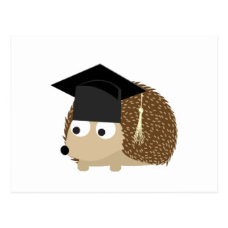 Graduation hedgehog postcard