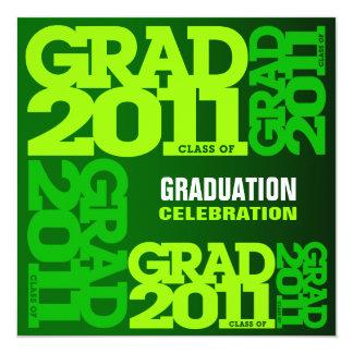 Graduation Invitation Celebrate 2011 Go Green