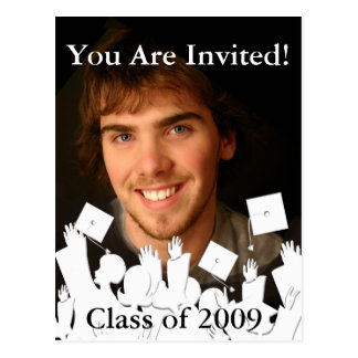 Graduation Invitation-Change Background/Font Color Postcard