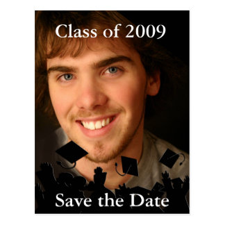 Graduation Invitation-Change Background/Font Color Postcard
