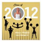 Graduation Invitation Cheerleader Add Photo Gold
