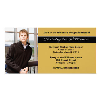 Graduation Invitation Class of 2011 Customized Photo Card
