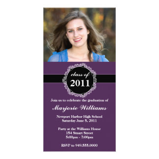 Graduation Invitation Class of 2011 Photo Card Template