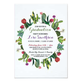 Graduation Invitation Party Fiesta Cactus Invite