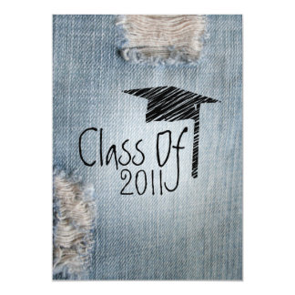 Graduation Invitation - Ripped Jeans Class of 2011