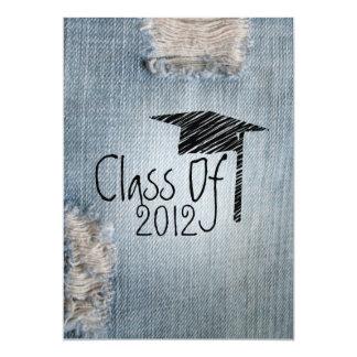 "Graduation Invitation - Ripped Jeans Class of 2012 5"" X 7"" Invitation Card"
