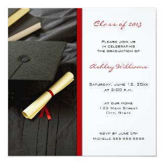 """Graduation Invitations 5.25"""" Square Invitation Card"""