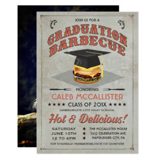 Graduation Invitations | BBQ Party