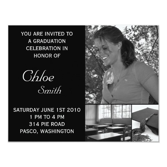 Graduation Invitations Cheap Customisable Photo