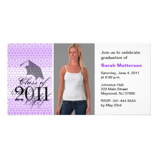 Graduation Invite Photo Card Chic Pattern 4