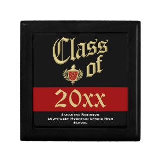 Graduation Keepsake Box, Red or Custom Color Small Square Gift Box