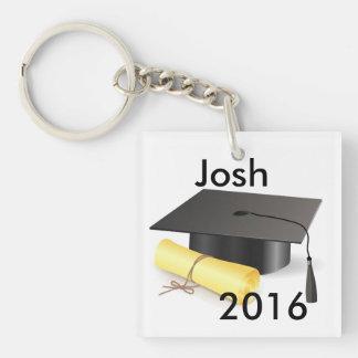 Graduation Key Ring Double-Sided Square Acrylic Key Ring