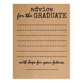 Graduation Kraft Advice Card