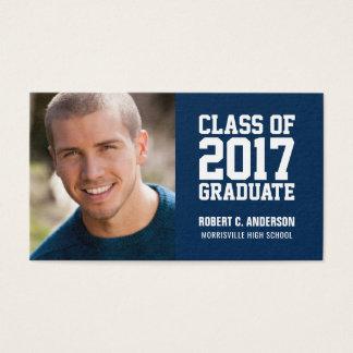 Graduation Name Card Photo - Your Color Choice
