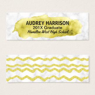 Graduation Name Card Senior Inserts Gold Marble