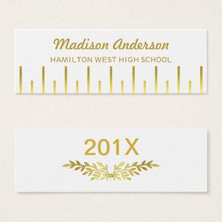 Graduation Name Card Senior Year Insert Deco Gold