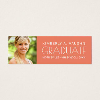 Graduation Name Card with Photo & Edit Color