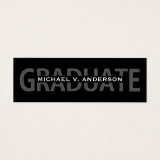 Graduation Name Cards Black-White Bold Lettering