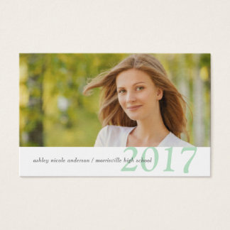 Graduation Name Cards Easy-Edit Photo & Class Year