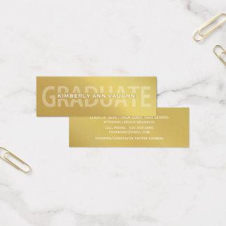 Graduation Name Cards Faux Gold Foil Letterpress