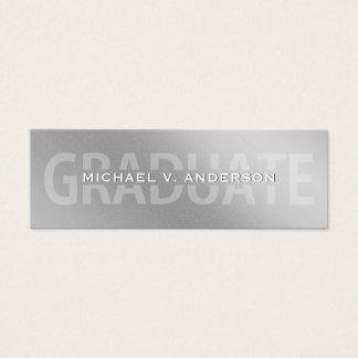 Graduation Name Cards Faux Silver Foil Letterpress