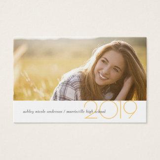 Graduation Name Cards Modern Social Media Profile